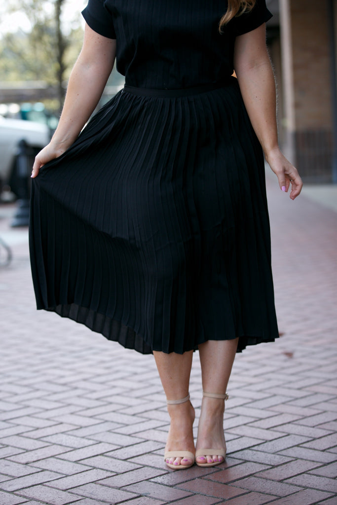 Elk Tekstur Skirt Black