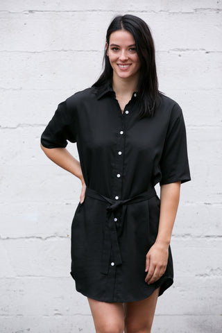 Curation by EMERSON FRY Bardot Top in Black Dots