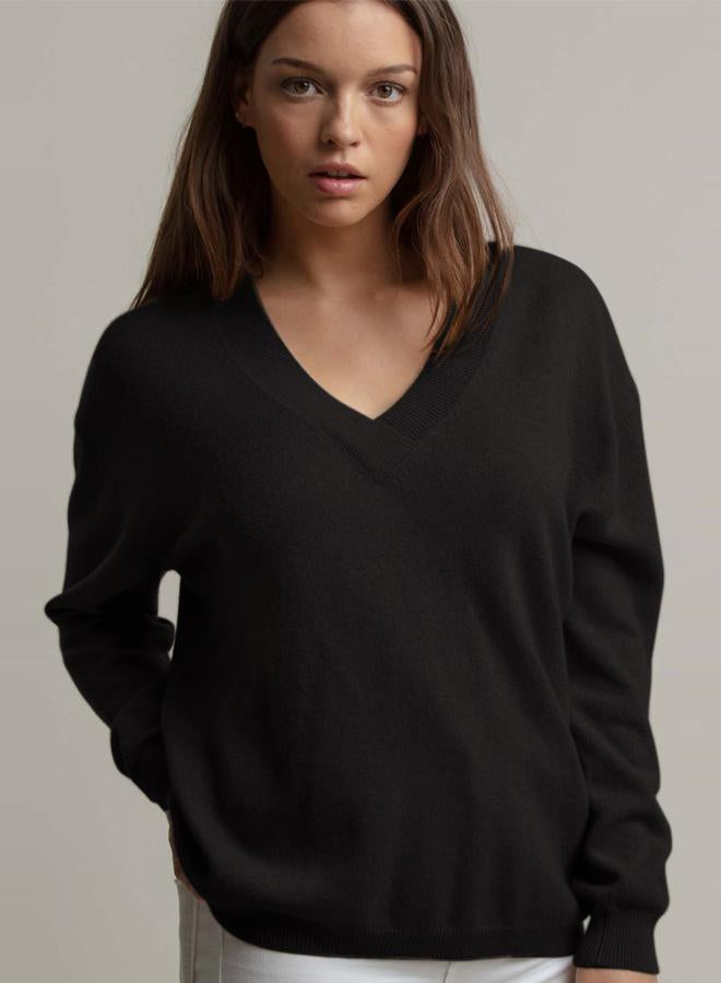 MINNIE ROSE Cashmere The Nilli L/S V-Neck Sweater