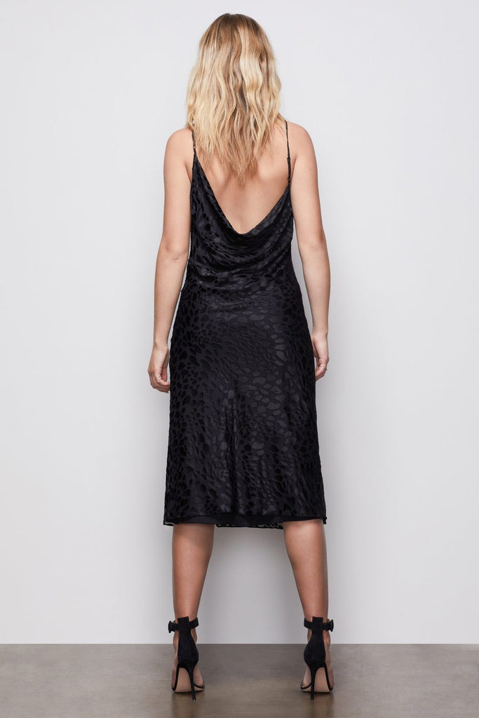 Good American Midnight Leopard Burnout Dress