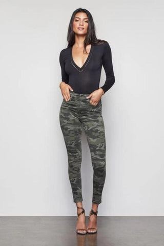 Mother High Waisted Looker Ankle in Faded Black