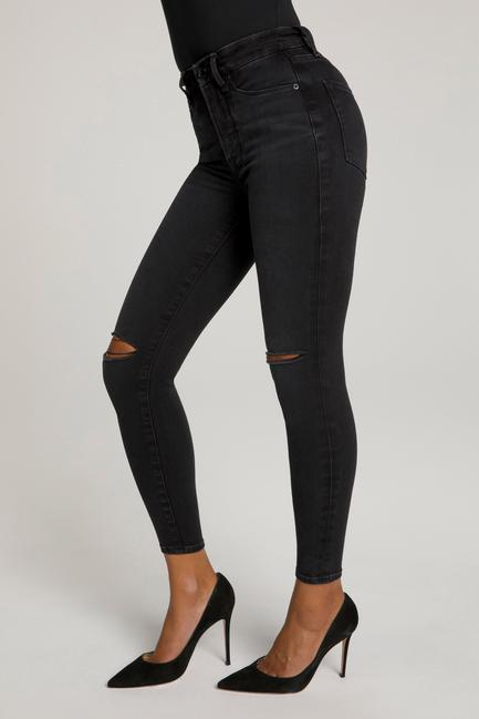 Good American Good Waist Crop in Black 111