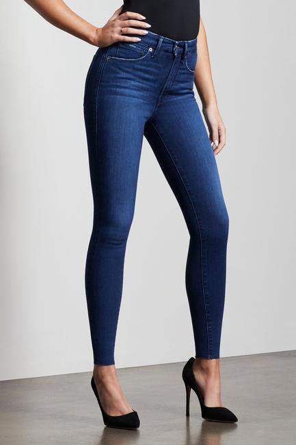 Good American Good Waist Raw Edge in Blue 434