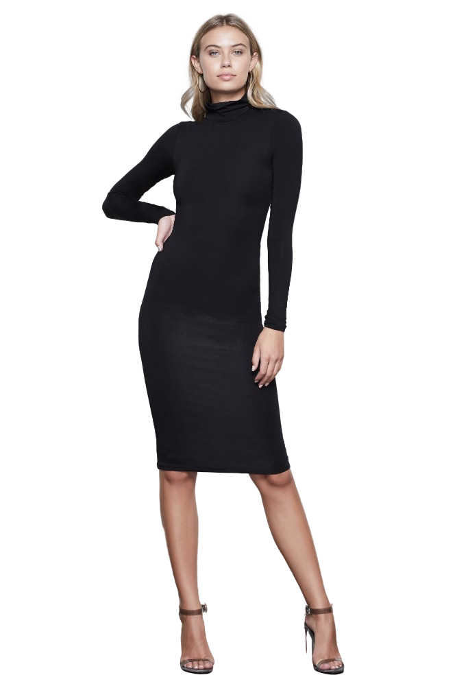 Good American The Sundown Bodycon Dress Black 001
