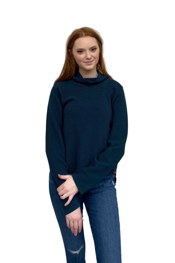 Hard Tail Cowl Neck Pullover Palmetto
