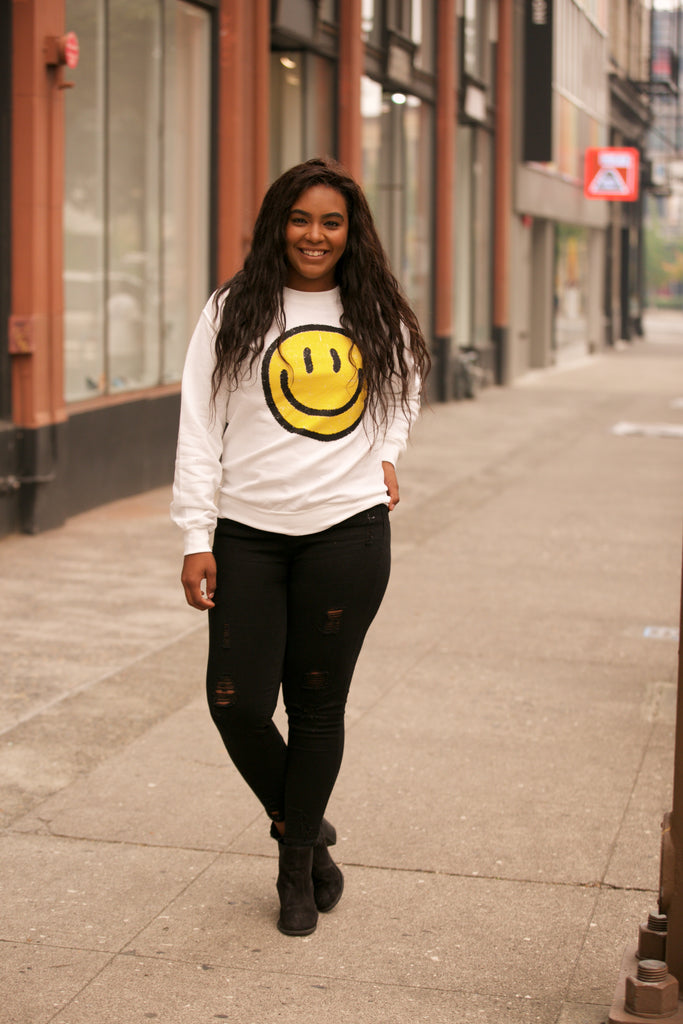 HOLIDAY Smiley Face Sweatshirt