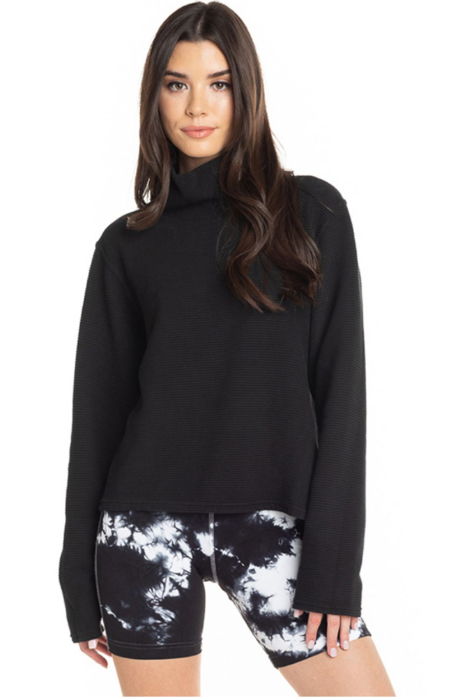 Hard Tail Cowl Neck Pullover - Classic Black