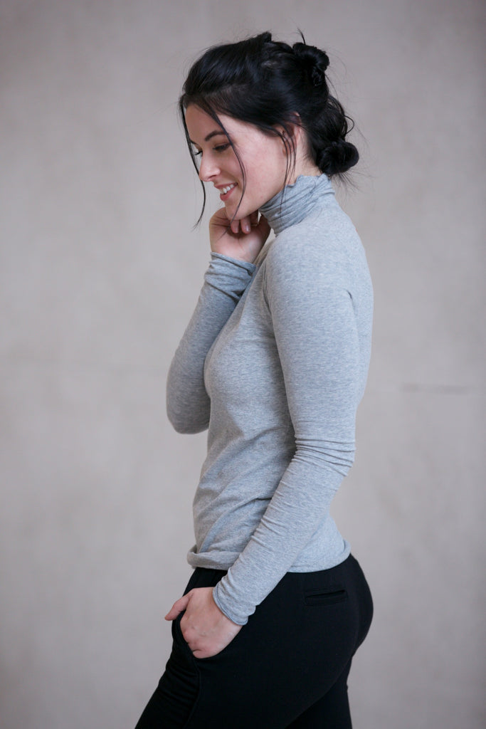 Hard Tail Long Skinny Turtleneck - Classic