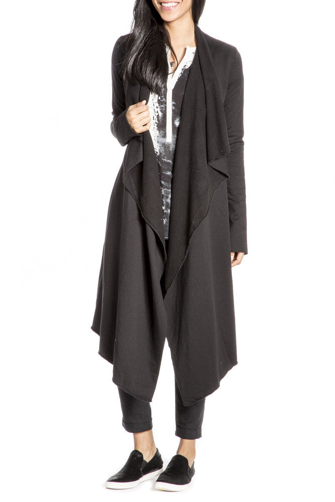 Hard Tail Matrix Cardigan in Black