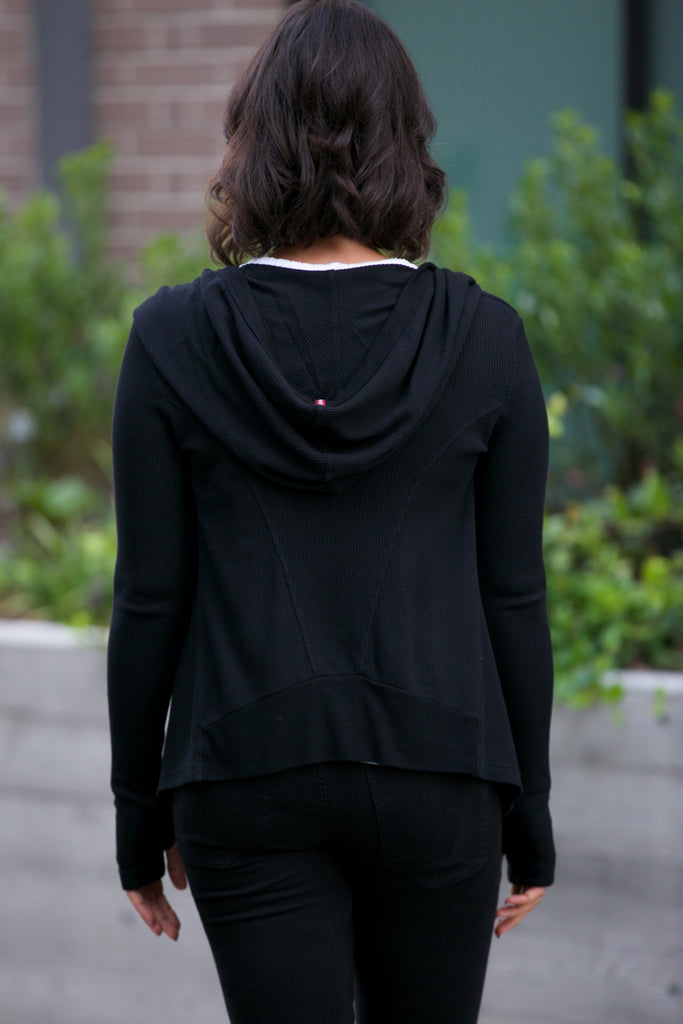 Hard Tail Princess Hoodie Wrap Black