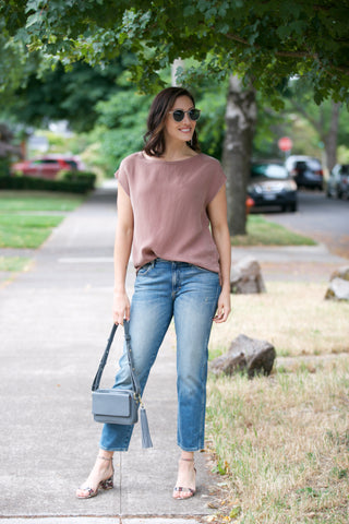 FRAME Le High Skinny Crop in Amal