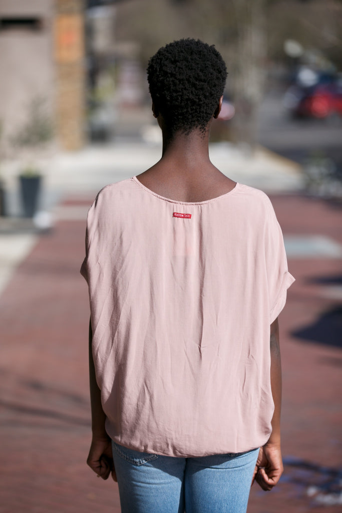 Hard Tail Scoop Boxy Tee Mauve