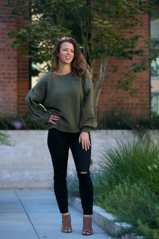 HOLIDAY Velour Raglan Sweatshirt
