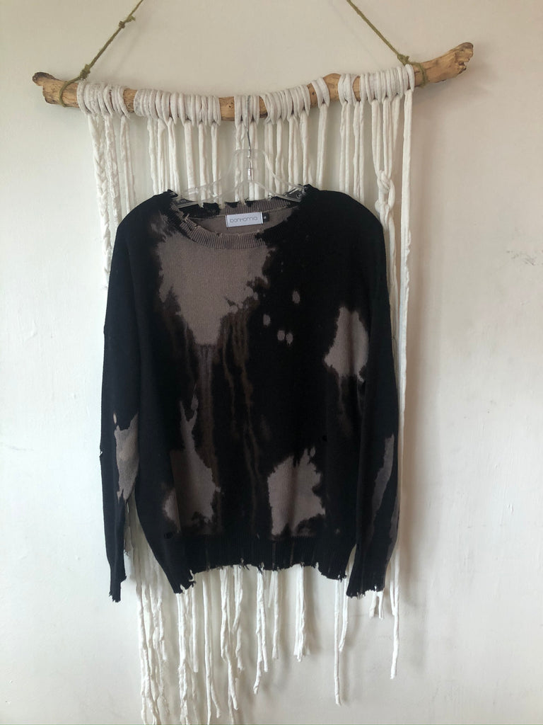 HOLIDAY Bleached Distressed Pullover Sweater
