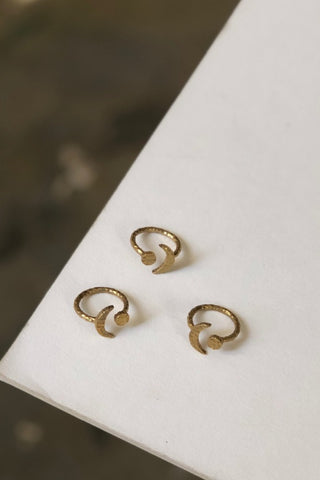 WATERSANDSTONE Small Knot Studs