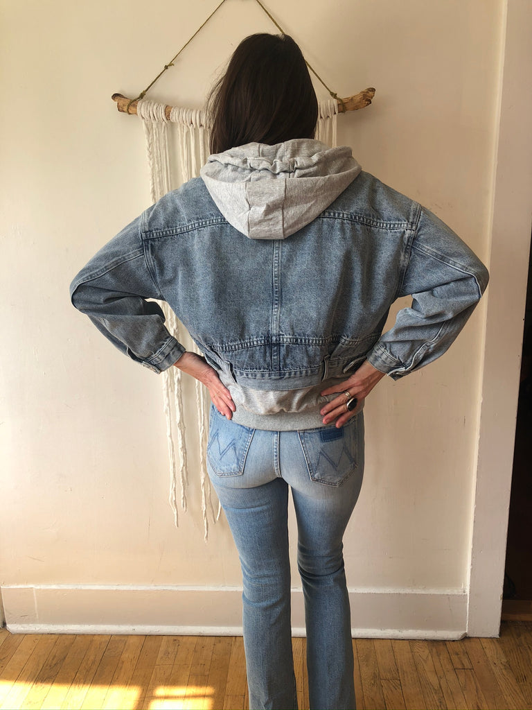 HOLIDAY Washed Denim Jacket w/Hood