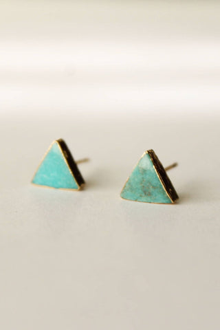 Betsy & Iya Mini Triangle Stud Earrings in Sterling Silver