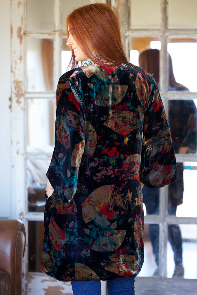 Johnny Was Collection Fusai Velvet Kimono