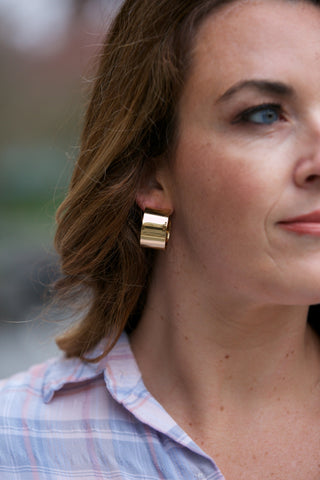 Betsy & Iya Salta Earrings - Brass Brass