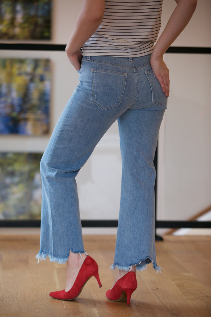 JOE'S JEANS The Wyatt High Rise Retro Crop Destructed Hem in Tarah