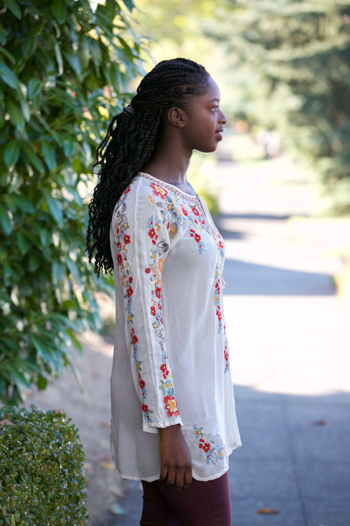 Johnny Was Collection Autumn Bloom Tunic