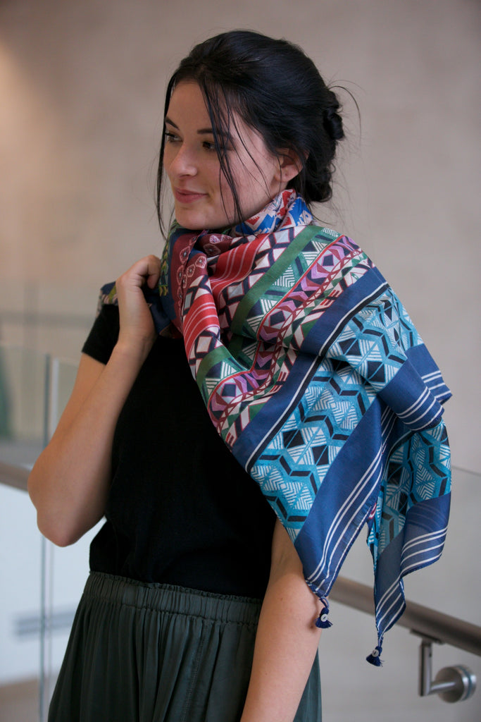 Johnny Was Collection Kish Faith Scarf  in Multi