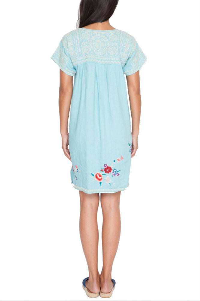 Johnny Was LA Eliza Tunic in Light Teal