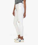 Kut from the Kloth Connie High Rise Ankle Skinny in Optic White