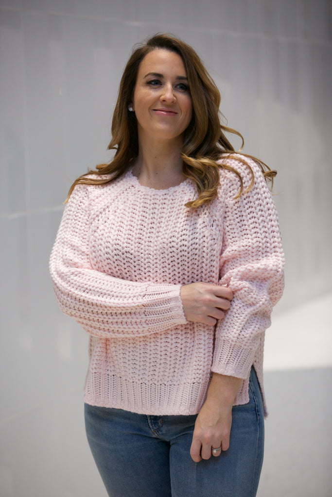 Kut from the Kloth Page Chunky Crewneck Sweater Blush