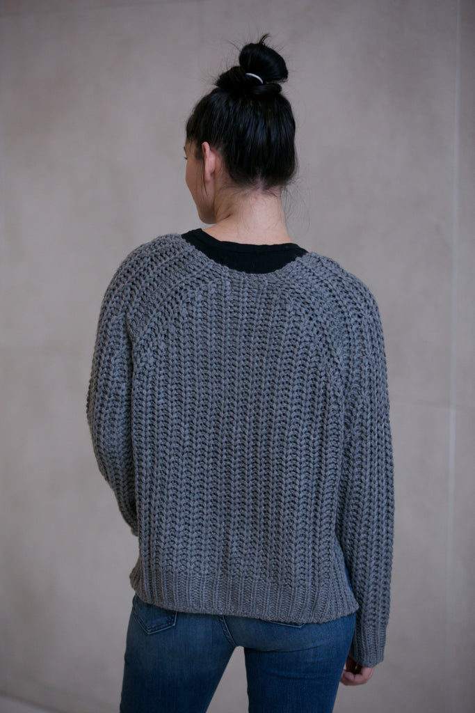 Kut from the Kloth Page Chunky Crewneck Sweater Grey