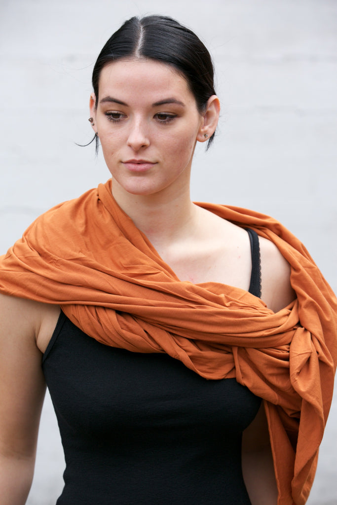 LA Made Zingo Scarf Leather Brown