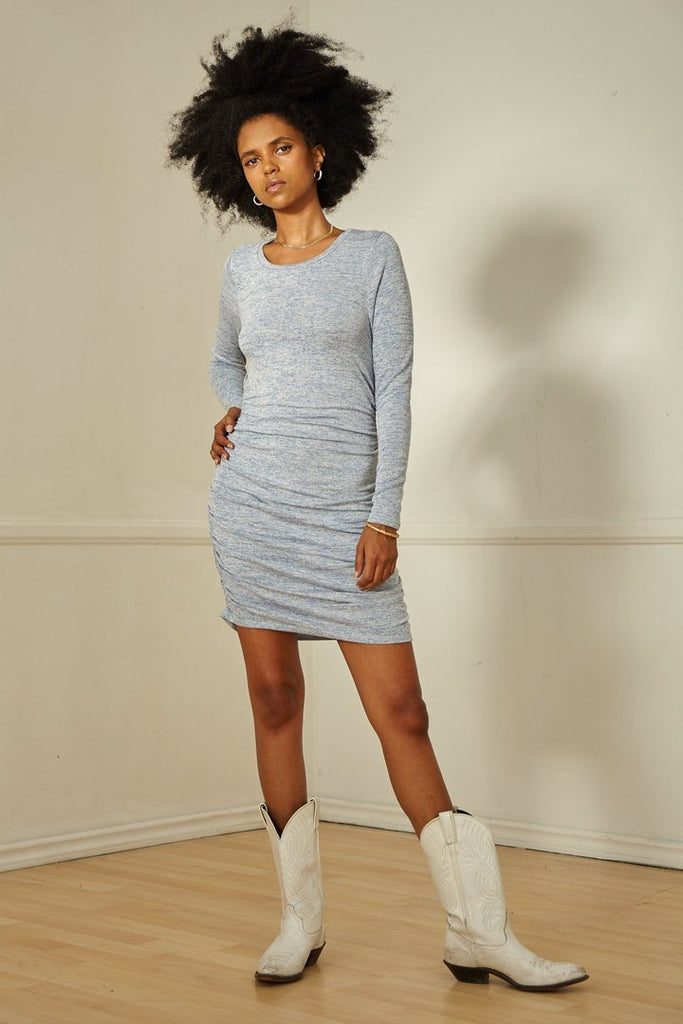 SAGE THE LABEL Helena Ruched Mini Dress