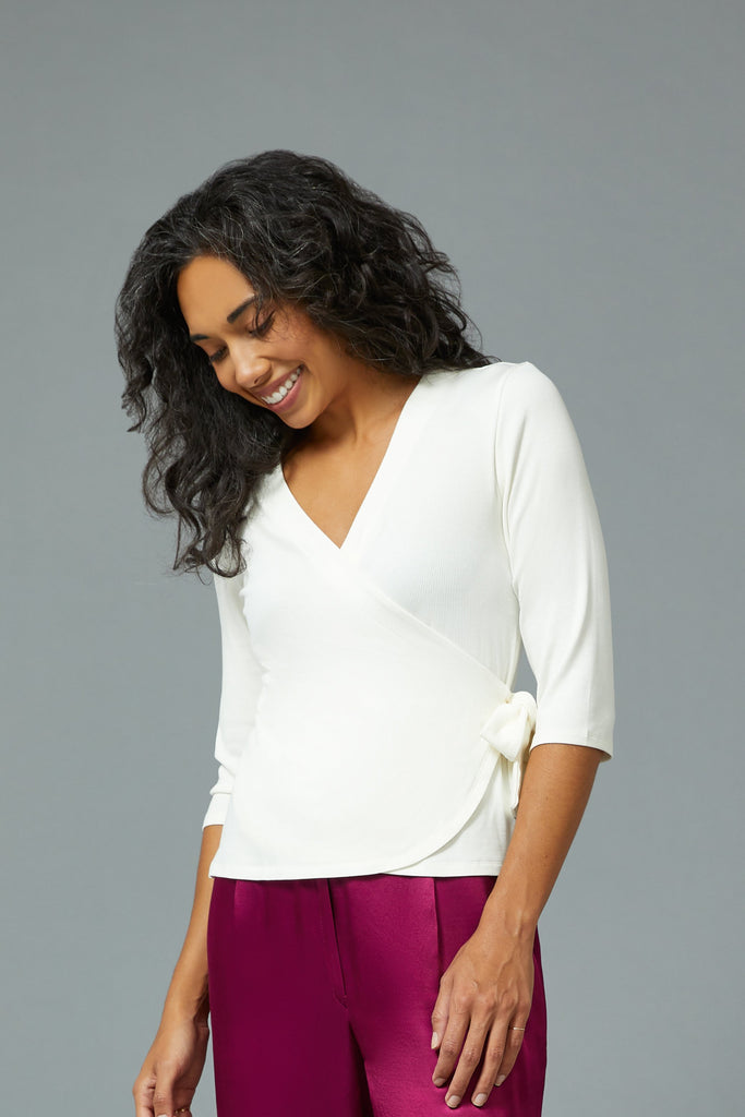 SARAH LILLER  SF Leila Wrap Top