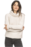 Lilla P Cropped Turtleneck Sweater Birch