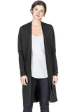 Lilla P Long Sleeve Duster Black