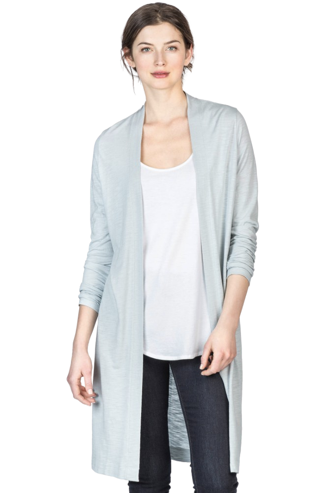 Lilla P Long Sleeve Duster Cloud