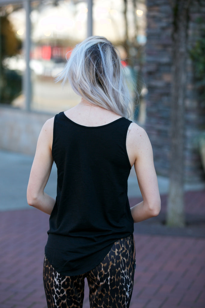 Lilla P Scoop Tank Black