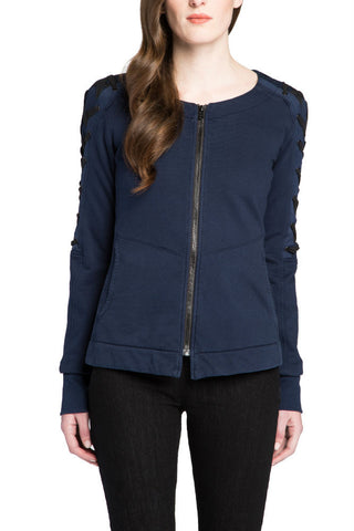 Kensie Stretch Crepe Blazer in Black