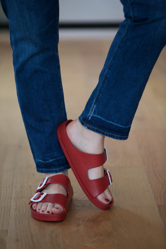 MIA Jasmin Slide Sandal Red