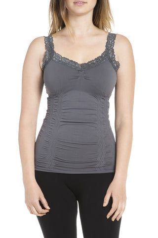 M. Rena Crop Corset Cami in Black