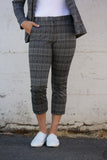 Michael Stars Plaid Ponte Smart Pant