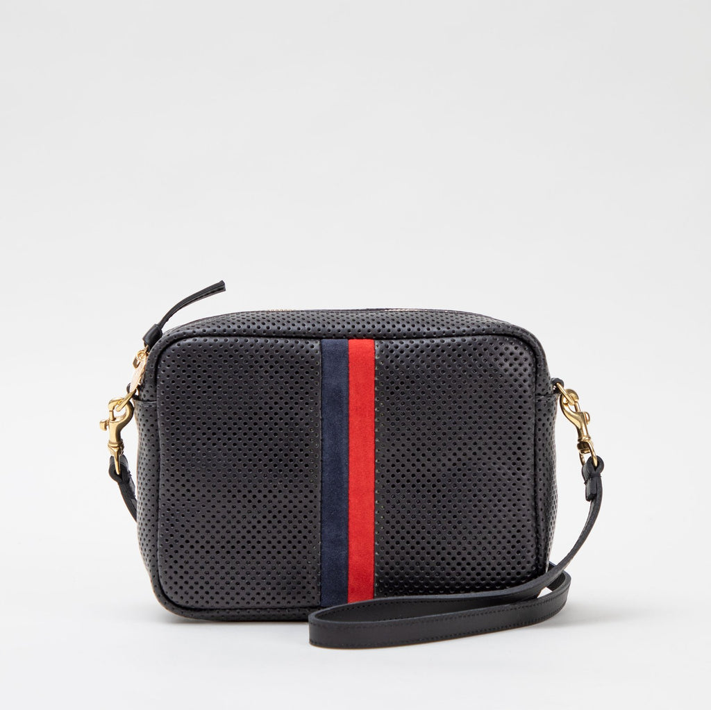 Clare V. Striped Midi Sac