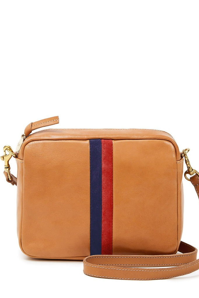 Clare V. Striped Midi Sac Natural RUstic Stripe