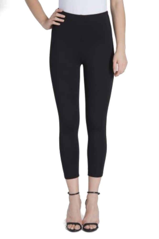 Lysse Mindy Zip Crop Legging in Black