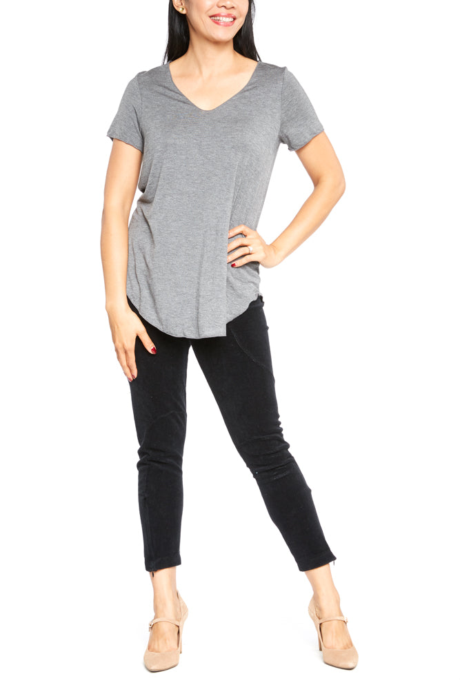 Mod Ref Everyday SS Top in Charcoal