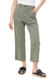 Mother Patch Pocket Private Ankle Fray in Army Green Army Green