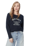 Mother The Square Sweatshirt Mtn Navy/Mother Always Liked You