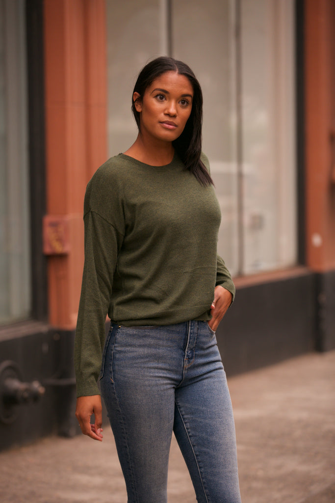 NYLAND Cashmere Blend Crew Neck Sweater