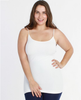 Niki Biki Plus Size Long Camisole in White