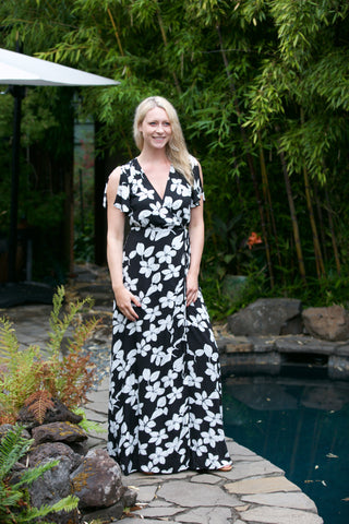 HOLIDAY Abstract Print Maxi Dress